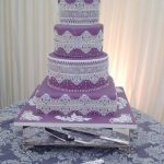 Lilac & Lace Wedding Cake - Lytham St Annes