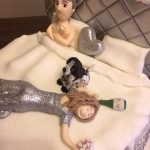 Silver Bedroom Scene Wedding Cake