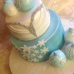 Ice blue & white snowflake wedding cakes, Lytham St Annes