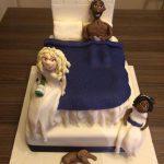 Bed scene wedding cake Lytham St Annes Lancashire
