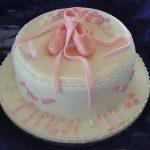 Ballet shoes & blossom cake