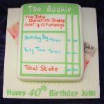 Betting Slip cake