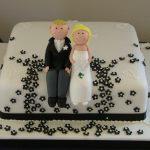 Black & White Wedding Cake Lytham St Annes