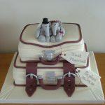 Suitcase wedding cake, Lytham St Annes, Lancashire