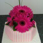 Gerbera Wedding Cake Lytham St Annes
