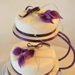 Purple Lilly Wedding Cake
