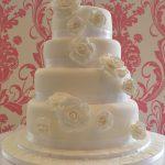 White Roses Wedding Cake - Lytham St Annes