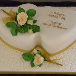 Double Hearts Wedding Cake Lytham St Annes