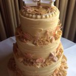 Gemma Beach themed wedding cake