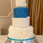 Hayley - Frozen Blue & White Lustre Wedding Cake