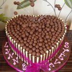 Chocolate Heart Wedding Cake Lytham St Annes Lancashire