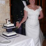 Ian & Debbie Cutting the Cake
