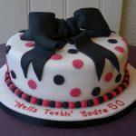 Pink & Black Polka dots