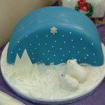 Polar Bears Christmas Cake
