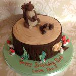 Squirrel Birthday cake