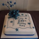 Traditional birthday blue