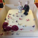 One tier wedding cake Lytham St Annes