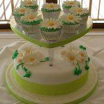 Daisy wedding cake, Lytham, Lancashire