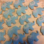 Iced Elephant Cookies