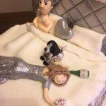 Silver Bedroom Scene Wedding Cake