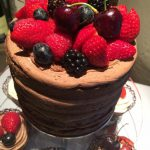 Chocolate cake with fresh fruit