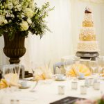 Ivory, Gold & Ruffles wedding Cake