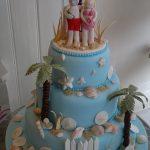 Florida Beach Wedding Cake
