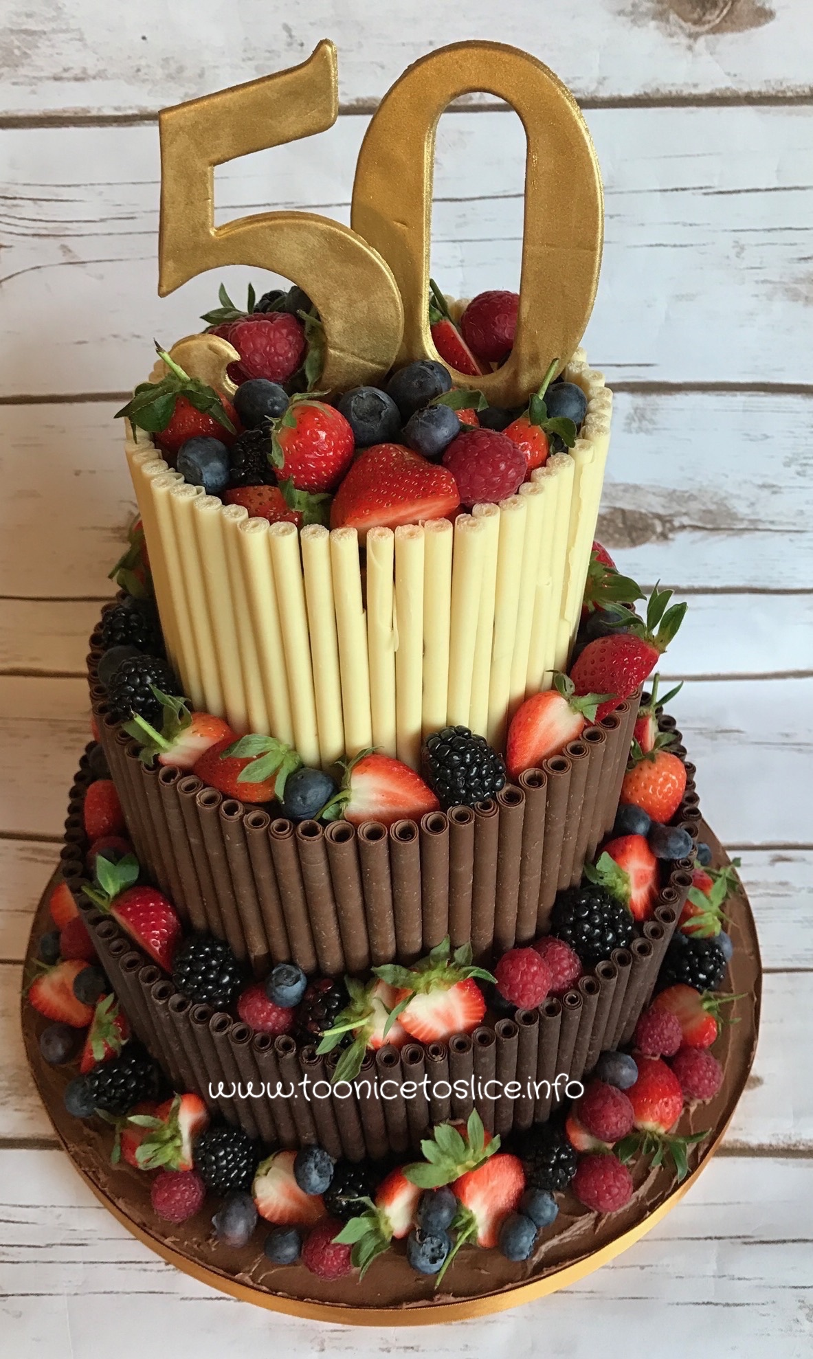 3 Tiers Chocolate Cigar Cake