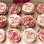 70th birthday cupcakes