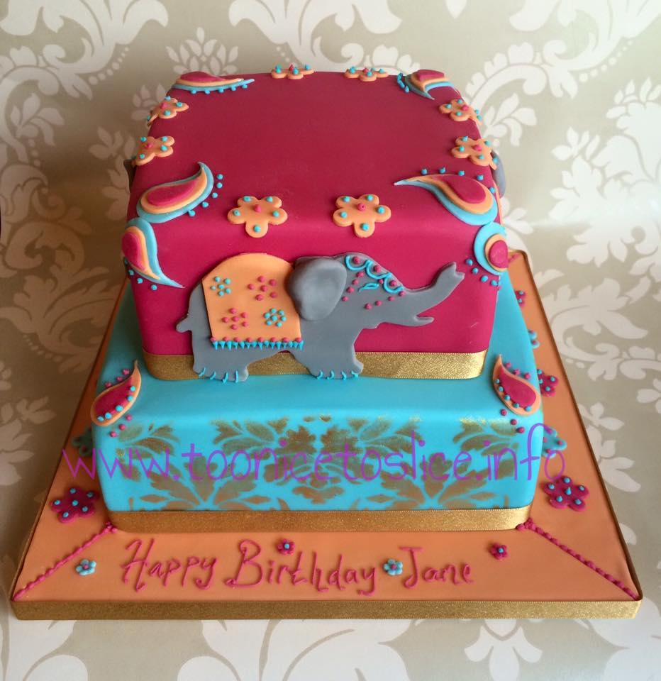 Elephant Themed Birthday Cake Too Nice To Slice