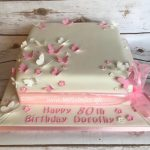 80th butterflies birthday cake