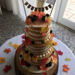 Autumn Naked Wedding Cake