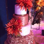 Autumn Bronze Wedding Cake