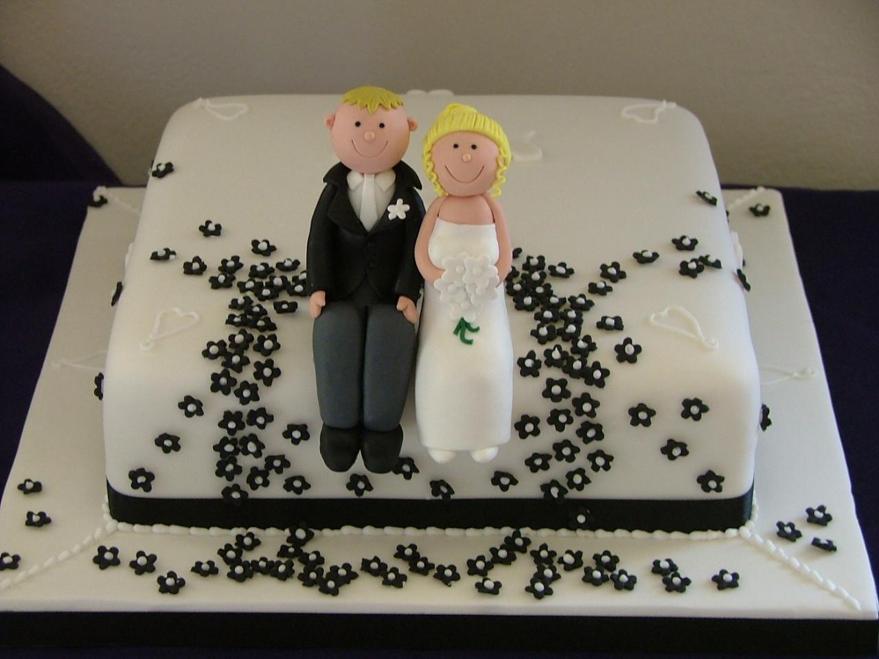 Black White Wedding Cake Lytham St Annes