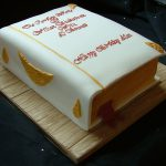 Complete works of Shakespeare book birthday cake