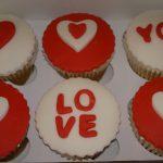 Box 6 Valentine cupcakes