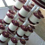 Burgundy & gold gift cakes