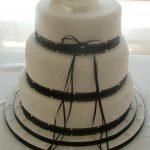 Caroline Black & White Wedding Cake