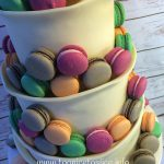 Chocolate Wrap & Macarons Wedding Cake 2