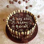 Chocolate cigarello cake 1