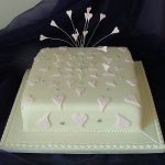 Hearts Wedding Cake LythamSt Annes