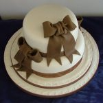 Chocolate bows wedding cake, Lytham St Annes, Lancashire