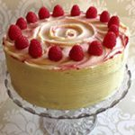 Vanilla & Raspberry Layer Cake