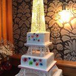 Eifell Tower Wedding Cake With Fireworks