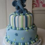 Elephant 1st Birthday Cake