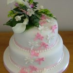 Dragonfly wedding cake, Lytham St Annes, Lancashire