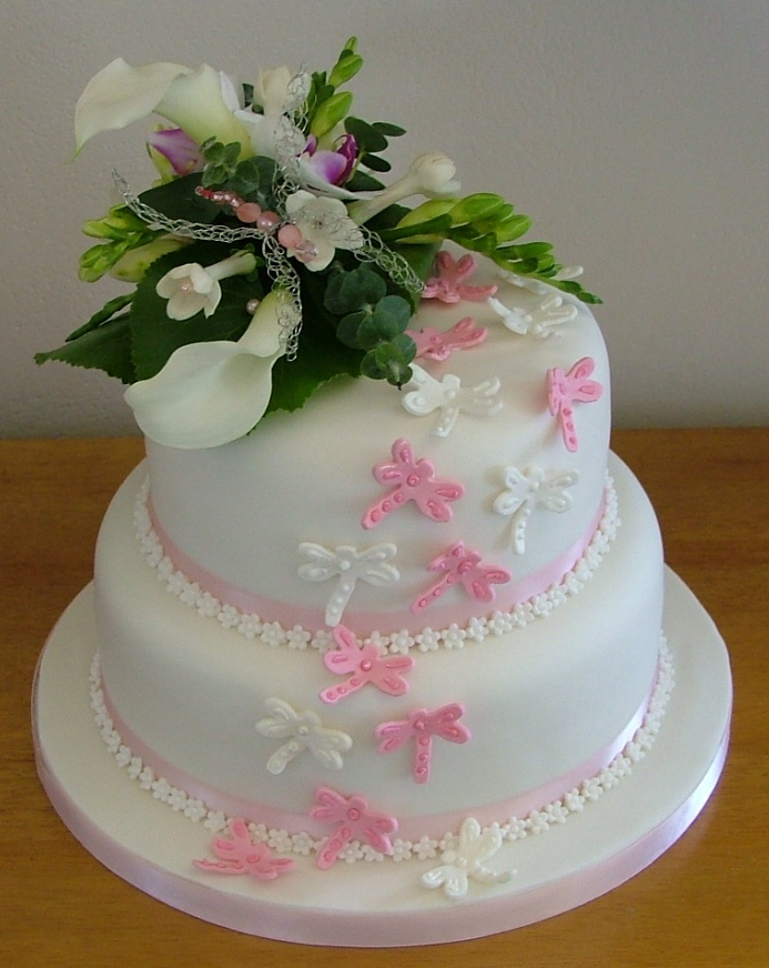 Two tier wedding cakes too nice to slice dragonfly wedding cake lytham st annes lancashire junglespirit Choice Image