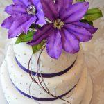 Purple Clematis Wedding Cake