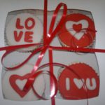Gift box of 4 Valentine cupcakes