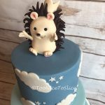 Christening Cake Cute Hedgehog Topper